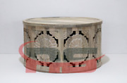 Handmade Round Wooden Coffee Carving Moroccan Table Design