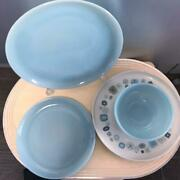Fire-king Turquoise Franciscan Madeinusa Gladding Mcbean And Co 50's Vintage 8set