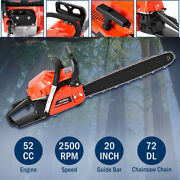 52cc Gas Chainsaw Engine Wood Log Power Cutter 20in Trimmer Crankcase 2 Stokes