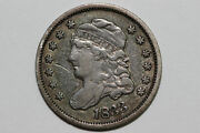 1833-p Capped Bust Silver Half 1/2 Dime Grades Very Fine Bhdx248