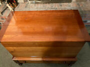 Vtg Southern Dovetail Sugar Chest Cherry Mid To Late 1800s With Bottom Drawer