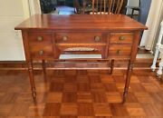 Antique Signed Leopold Stickley Cherry Valley Writing Desk Or Vanity