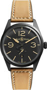 Brand New Bell And Ross Vintage Br-123-heritage Black Pvd Steel 41mm Men's Watch