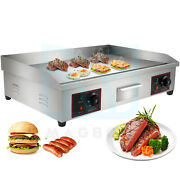 30 4400w Electric Commercial Countertop Griddle Flat Hot Plate Top Grill Bbq