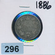 Canada - 25 Cent Silver - 1886 - Better Date - 296