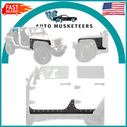 Smittybilt New Armor Front And Rear Corner Fenders W/ Body Cladding - Jeep Jk 4dr