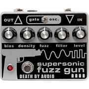 Death By Audio Supersonic Fuzz Gun Versatile Fuzz Effects Pedal Gray And Black