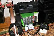 Large Lot Of Xbox One X System 22 Games 2 Controllers 1tb External Hd Cables +