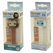 Funko Pop Pez Dispensers - Myths - Set Of 2 Bigfoots Snowy And Normal - New