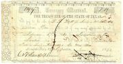 Texas C.s.a. State Treasurer Of Tw-61a Minute Men 7.78 June 7 1861 F