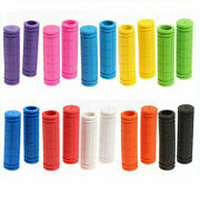 1 Pair Rubber Handle Cover Universal Non-slip Soft Mountain Bicycle Handle Grips