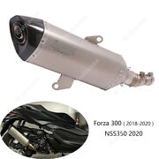 For Honda Nss350 Forza 300 Exhaust Pipe Motorcycle 51mm Muffler Escape Db Killer