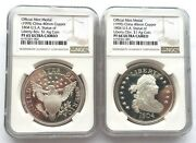 China 1995 Usa 1804 Liberty 1 Silver Coin Ngc Set Of 2 Medals,proof