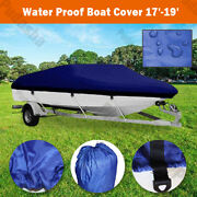 Marine Blue 17and039 - 19and039 Boat Cover For Trailerable Fishing Dinghy Motorboat Bbt2n