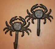 Seafood Restaurant Crab Design Wall Hooks Cast Iron Quantity Priced N-16
