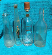 Antique Whiskey And Wine Bottles Lot 4