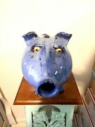 Billy Joe Craven Pig Bank Jug Pottery Folk Art 12and039and039l X7and039and039w X9and039and039 Tall