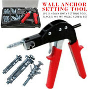 Wall Anchor Setting Tool W M4 M5 Mixed Screw Kit Hollow Cavity Plasterboard Us