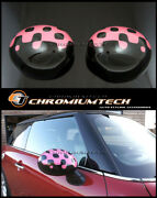 Mini Cooper/s/one R55 R56 R57 R60 Vivid Pink Mirror Caps Covers For Manual Fold