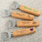 20-200 Personalized Wooden Handle Bottle Opener - Wedding Shower Party Favors
