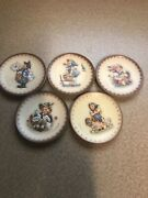 Goebel Hummel Miniature Collector Plates Lot Of 5 And03983 And03984 And03985 And03986 And And03987