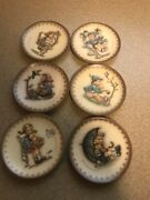Goebel Hummel Miniature Collector Plates Lot Of 6 And03976 And03977 And03978 And03979 And03980 And03981