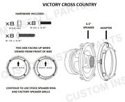 5.25 To 6.5 Motorcycle Speaker Adapter Pair Rings Fits Victory Xc Cross Country