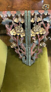 Antique 17-18th C. Chinese/or Hindu Temple Ruin Ornament Woodwork Fire Damaged