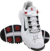 Tiger Woods Autographed White Nike Tw 13 Golf Shoes Upper Deck