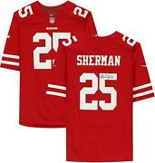 Richard Sherman San Francisco 49ers Autographed Nike Red Game Jersey