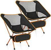 2 Pack Camping Chairs Backpacking Chair Portable Compact Ultralight Outdoor Fold