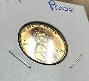 1939 Proof Lincoln Cent Wheat Penny Proof Mostly Red