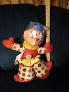 Vintage 1954 Ideal Toy Company Musical Two Faced Clown With Box