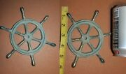 Antique Style Nautical Mariner Ships Wheel Wall Decor Plaque, Cast Iron, N-27