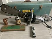 Rare Working Vintage 1950andrsquos Portercable - Porter-cable 110 Electric Chainsaw