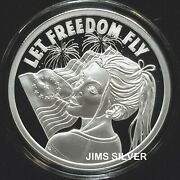 2021 Silver Shield Let Freedom Fly 1 Oz. Silver Proof W/ Coa And Box 888 Mintage