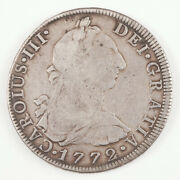 Charles Iii Silver Eight Reales Piece Of Eight 1772, Mexico Mint Fm Inverted