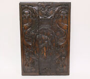 Antique Carved Italian Wooden Panel - Walnut - 16th/17th Century
