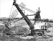 1940s Marion 5561 Stripping Shovel W/2 Cat D-8s 8x10 Bandw Photo - Lots Of Detail