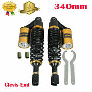 13.5and039and039 340mm Motorcycle Shock Absorber Universal Dampers Clevis End For Honda