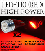 X2 Pairs T10 Super Red Led High Power License Plates Plug And Play Lights F145