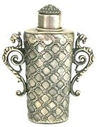 Unique Solid Silver Flack Hand Made Circa 1890 Germany 147 Gr./ Perfume Bottle