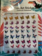 Pack Of 48 Butterfly Nail Art Stickers