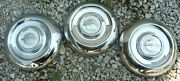 1953 1954 54 1955 55 Oldsmobile Dog Dish Poverty Hubcaps Wheel Covers Olds Oem