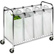 Honey Can Do Commercial-grade Heavy-duty Quad Rolling Laundry Storage Sorter New