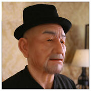 Full Face Silicone Realistic Old Man Halloween Cosplay Fetish Skin Head Masks