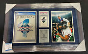 Mike Ditka Signed And Framed Super Bowl Xx Bears Program And Ticket Piece 33x21 829