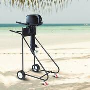 Outboard Boat Motor Stand Carrier Cart Dolly Storage Pro Heavy Duty Engine Stand