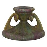 Roseville Pottery Carnelian Ii 1926 Red And Green Candle Holder 1060-3
