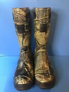 Itasca Boots Steel Toe Size 12 Camo Hunting Fishing Rubber Knee High Scent Free